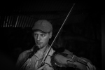 Daniel on fiddle and backing vocals